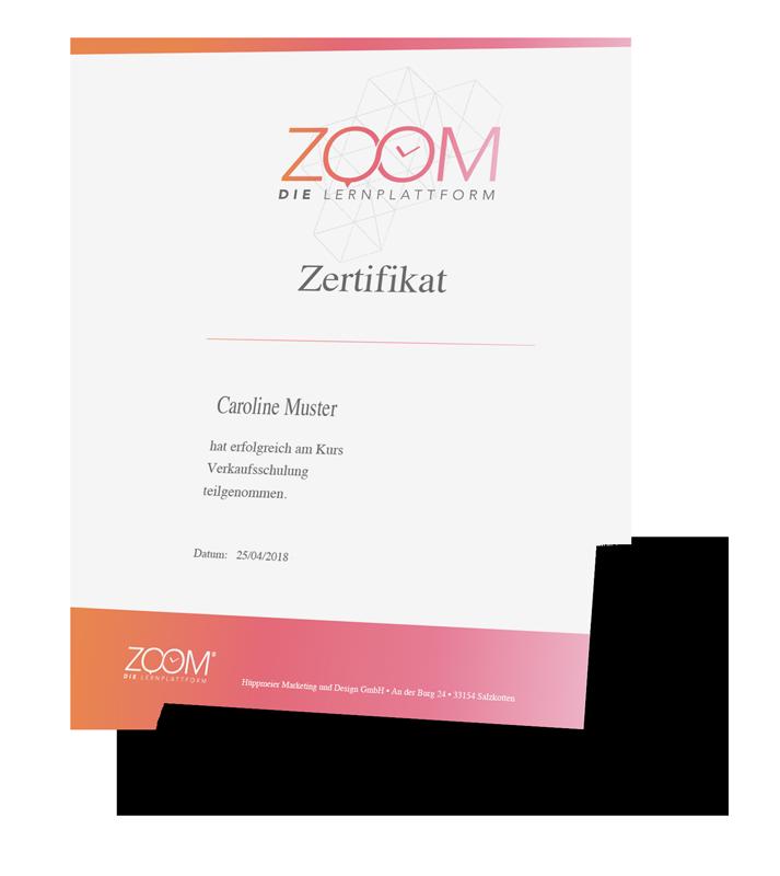 ZOOM – Zertifikat